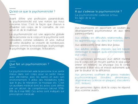 Plaquette psychomotricité design graphique